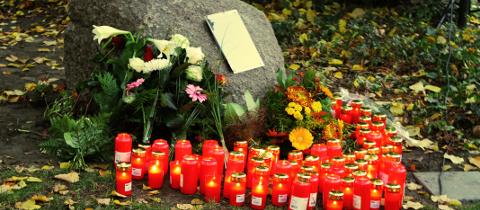 Eröffnung des ersten Gedenkortes für Opfer rechter Gewalt in Leipzig