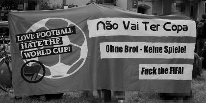 150 Menschen bei WM-kritischer Kundgebung in Leipzig