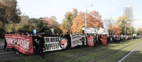 Demonstration am 24.10.2015 in Leipzig
